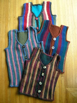 Free Crochet Pattern Colorful Baby Vest : afghans for Afghans - Free Knitted Vest Pattern for Afghan ...