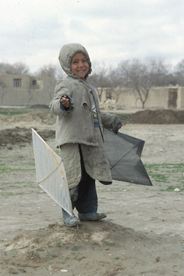 boy with two kites